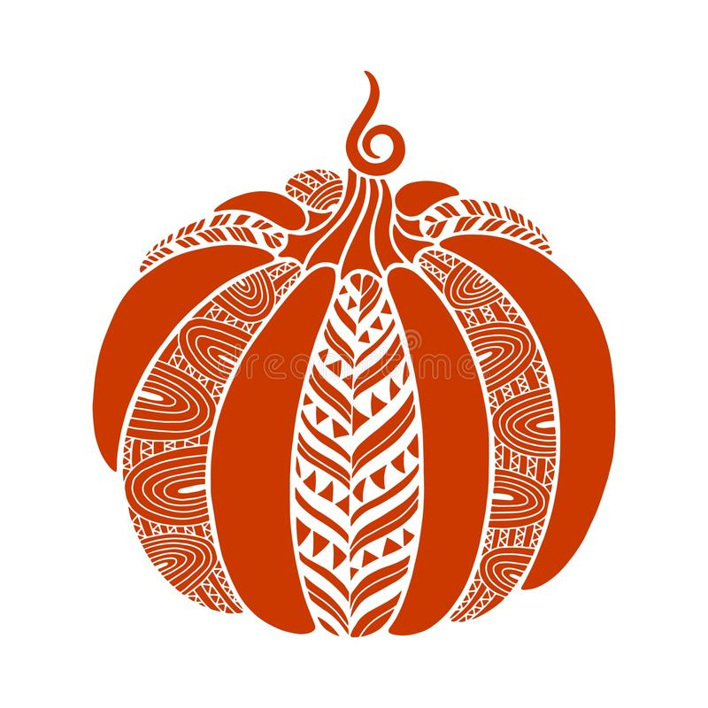 Pumpkin in flat style royalty free illustration