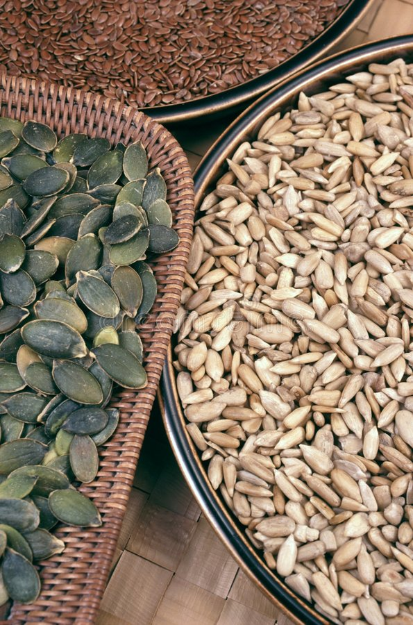 Download Pumpkin,  Flix And Sunflower Seeds Stock Image - Image: 7980015