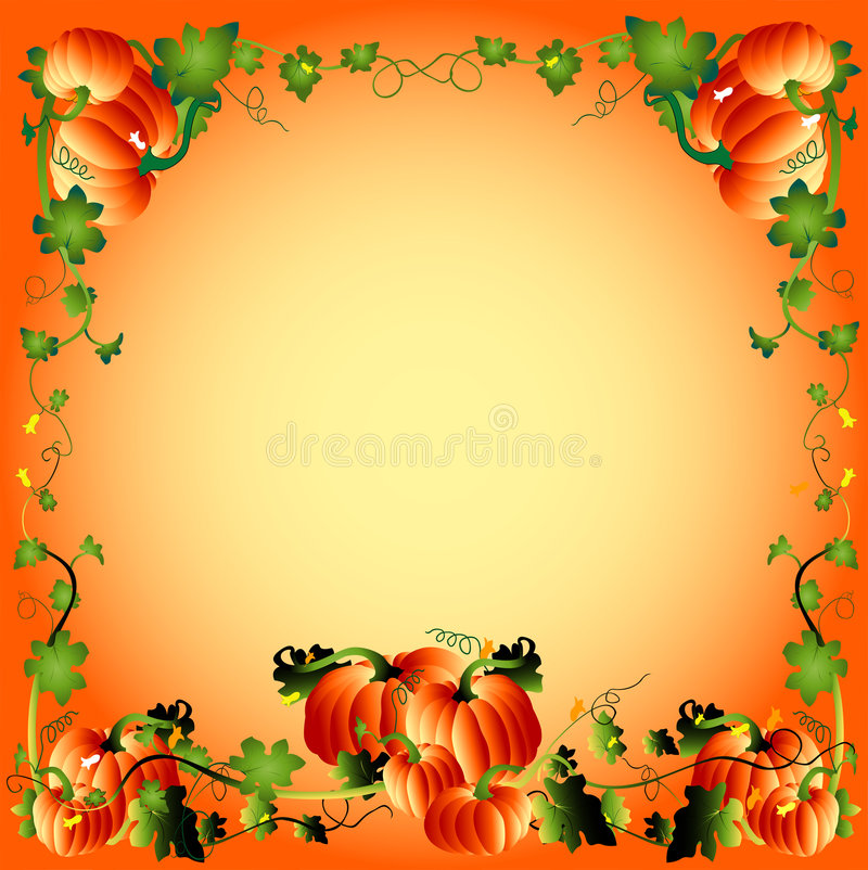 Download Pumpkin frame stock vector. Illustration of greeting, card - 1427070