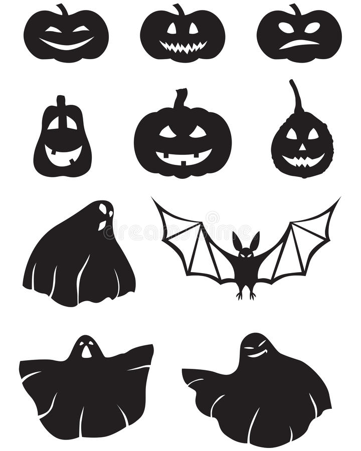 Download Pumpkin and ghosts stock vector. Illustration of logo - 25341707