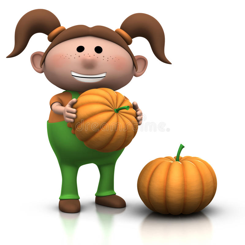 Free Pumpkin Girl Stock Photo - 16105760