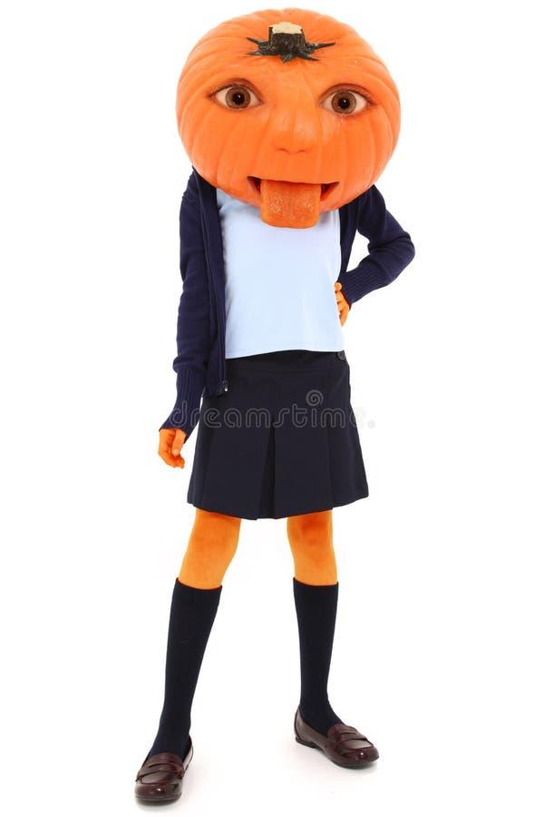 Pumpkin Girl royalty free stock photos