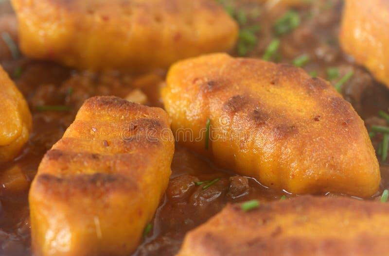 Pumpkin gnocchi stock images