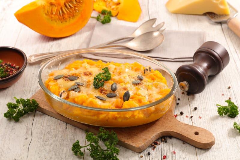 Pumpkin gratin stock image