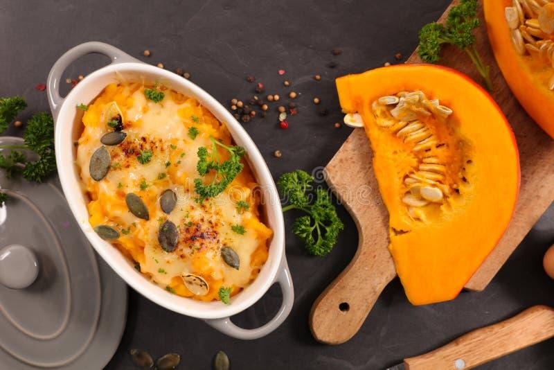 Pumpkin gratin stock photo