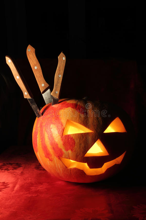 Pumpkin for Halloween stock images