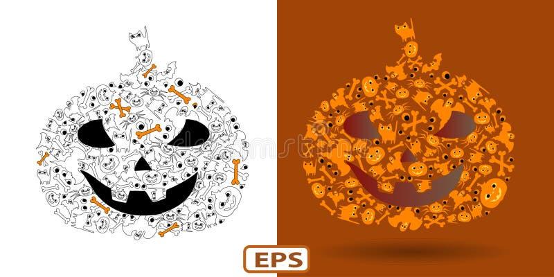 Pumpkin_Halloween royaltyfri bild