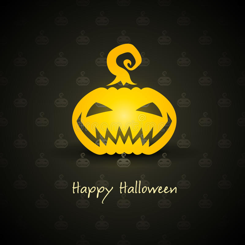 Download Pumpkin For Halloween On Background Stock Vector - Image: 20955157