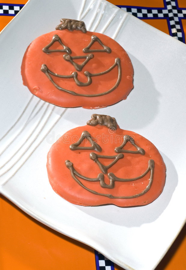 Free Pumpkin Halloween Cookies Stock Photo - 6613000