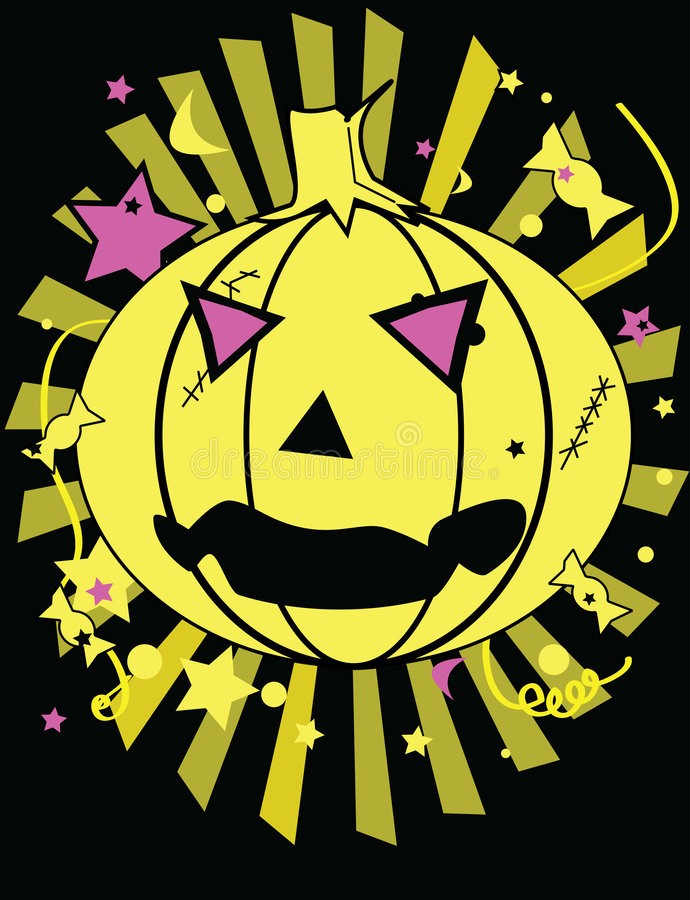Pumpkin halloween image vector illustration