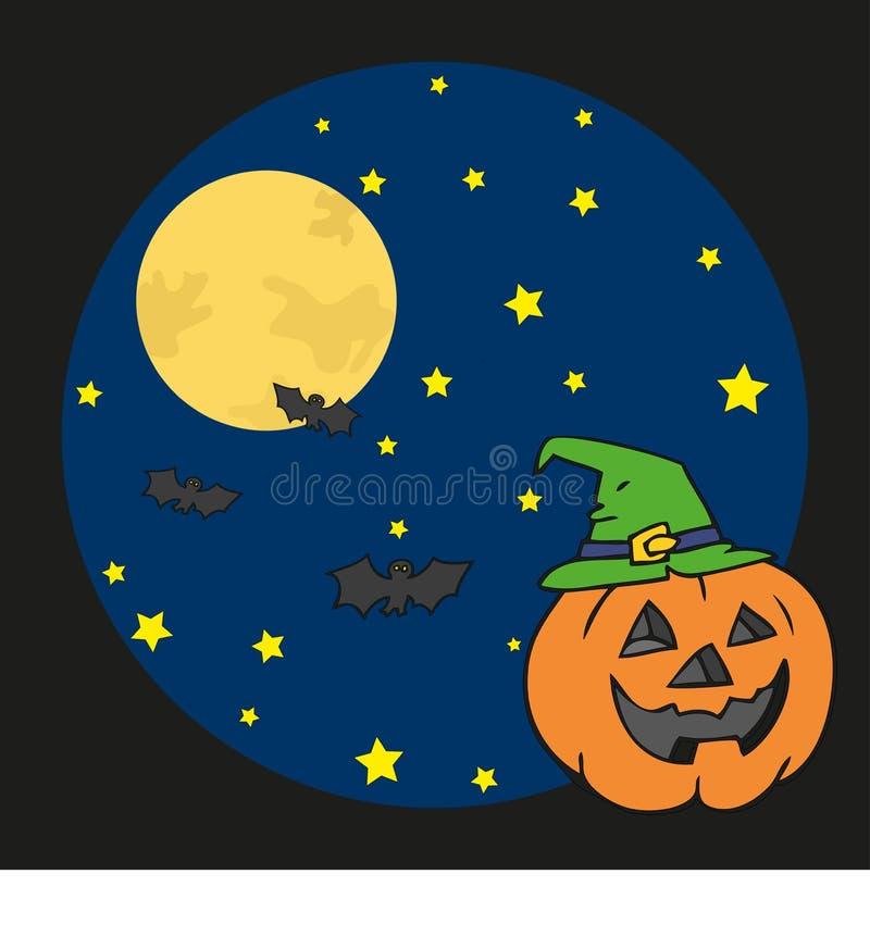 Pumpkin In Halloween Night Royalty Free Stock Photography