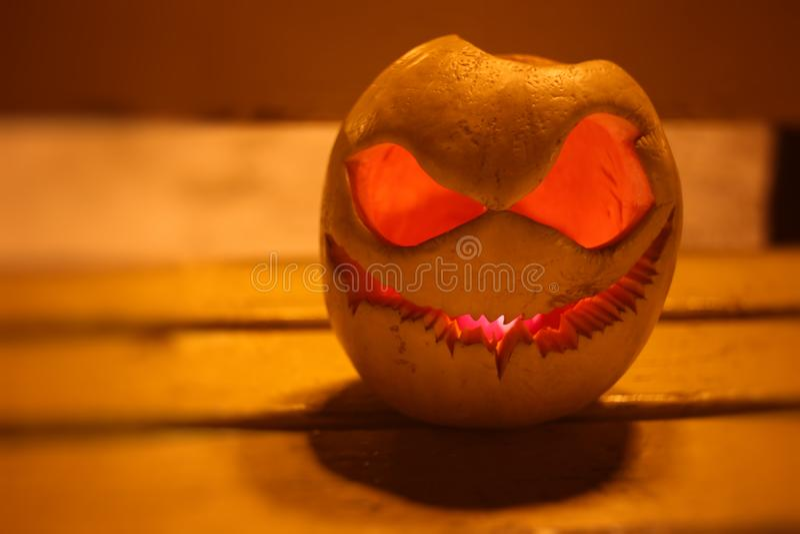 Pumpkin for Halloween night stock photo