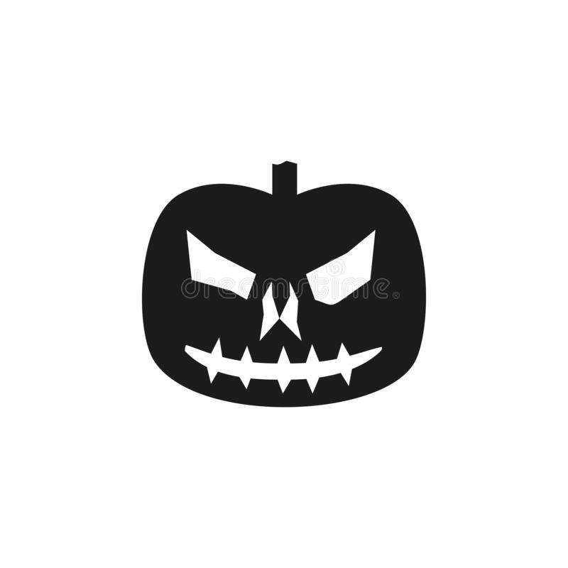 pumpkin halloween silhouette. Element of halloween illustration. Premium quality graphic design icon. Signs and symbols collection royalty free illustration