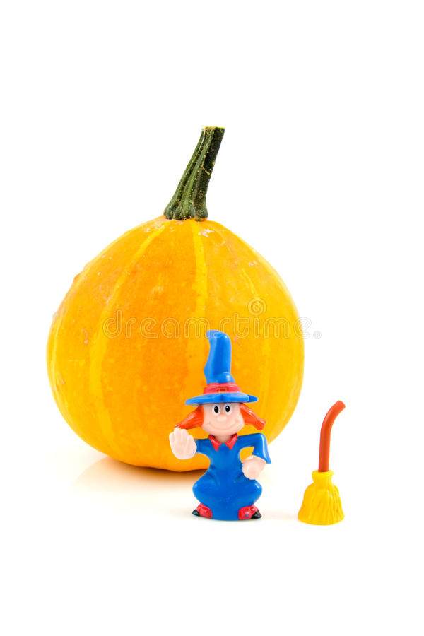 Download Pumpkin For Halloween With Wich Stock Photo - Image: 11011532