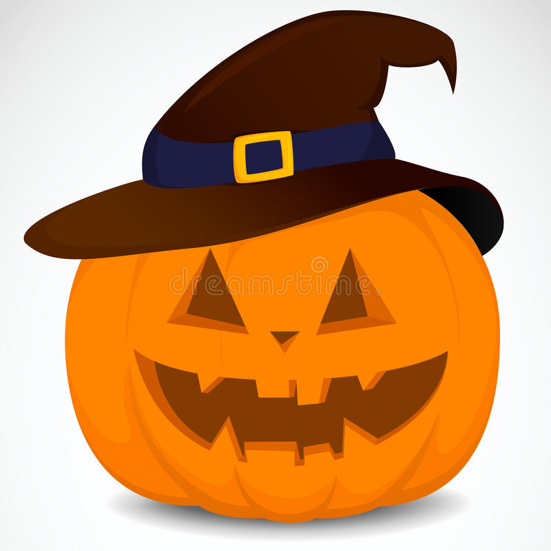 Download Pumpkin with hat stock vector. Image of illustration - 33443479