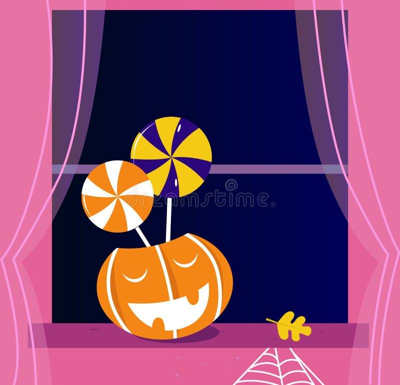 Download Pumpkin Head Or Jacks O' Lantern, Candy, Window Stock Vector - Image: 20706756
