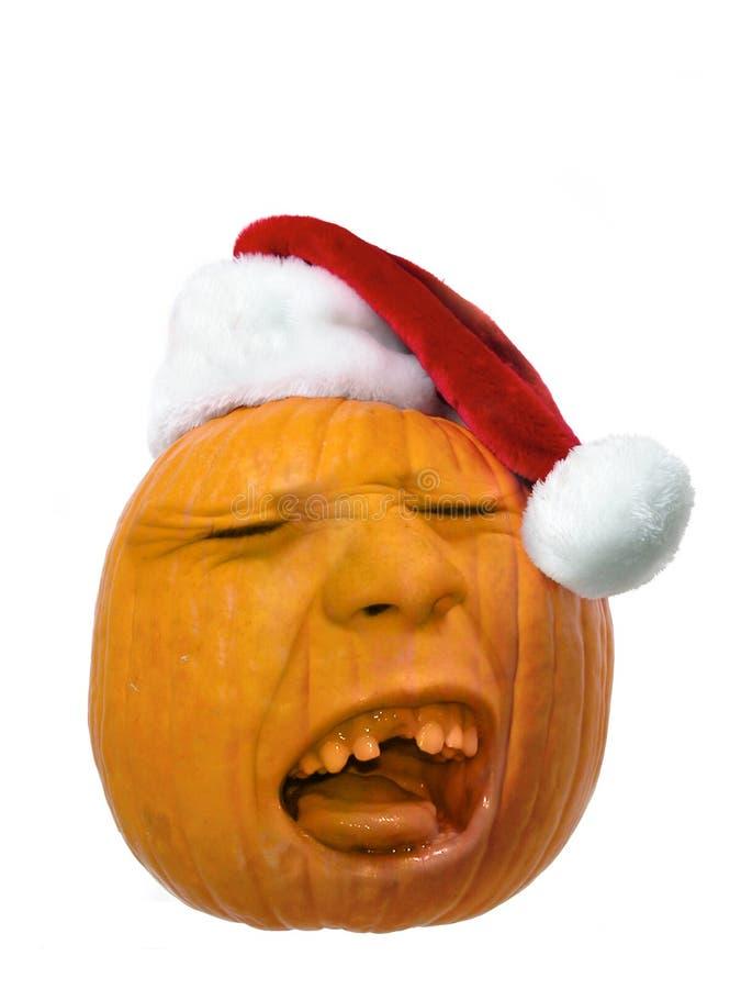 Pumpkin Head Santa stock photos