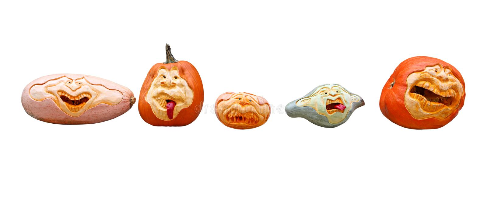 Pumpkin Heads royalty free stock image