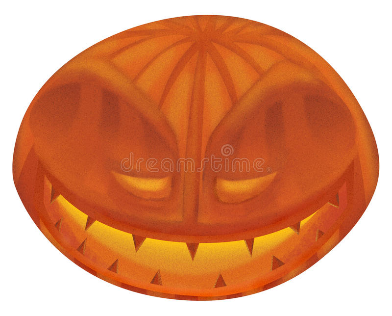 Pumpkin from hell stock image