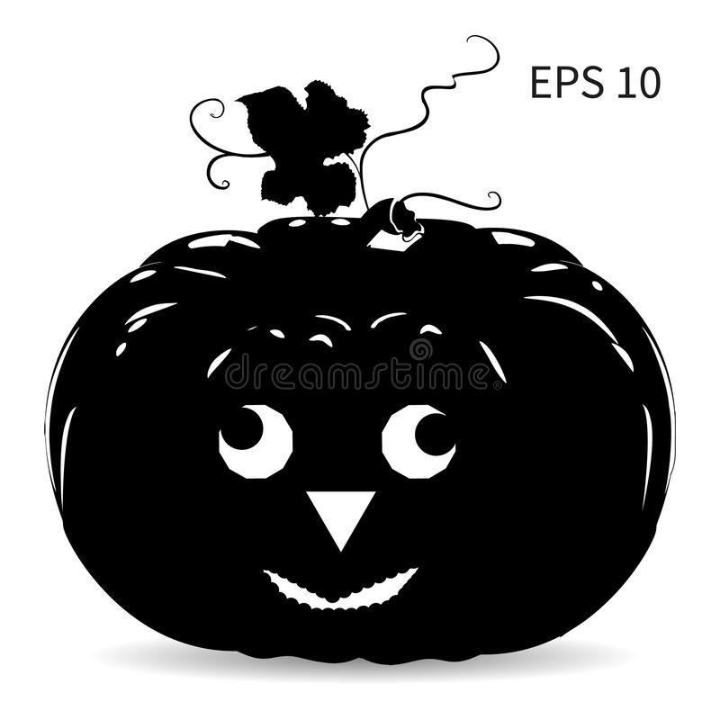 Pumpkin for the holiday of Halloween, design for decorating EPS10, on a white background, royalty free illustration