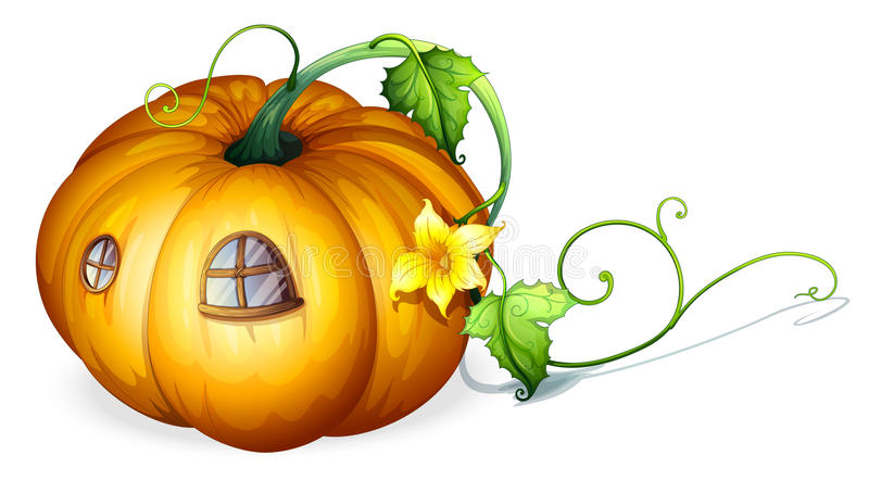 Pumpkin house royalty free illustration