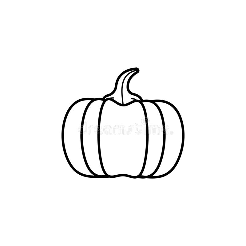 Pumpkin icon. Simple outline  of autumn set for UI and UX, website or mobile application on white background vector illustration