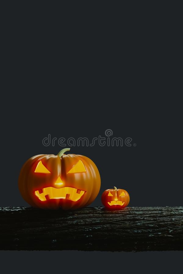 Pumpkin Jack on timber royalty free stock photography