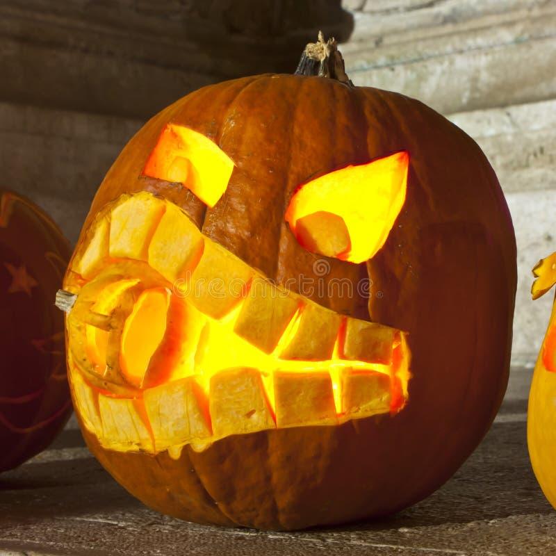 Pumpkin lamp stock images
