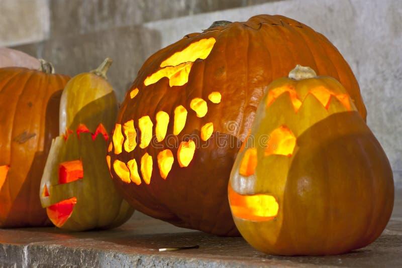 Pumpkin lamp royalty free stock photography