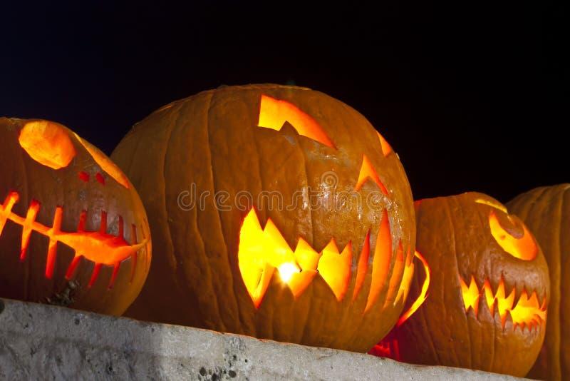 Pumpkin lamps royalty free stock photo