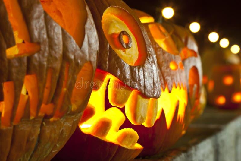 Pumpkin lamps royalty free stock image