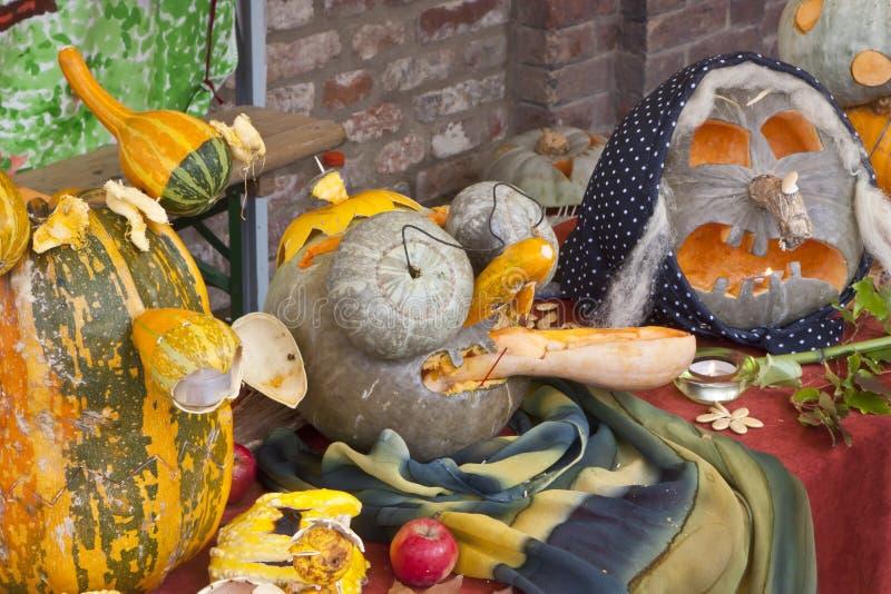 Pumpkin lamps stock images