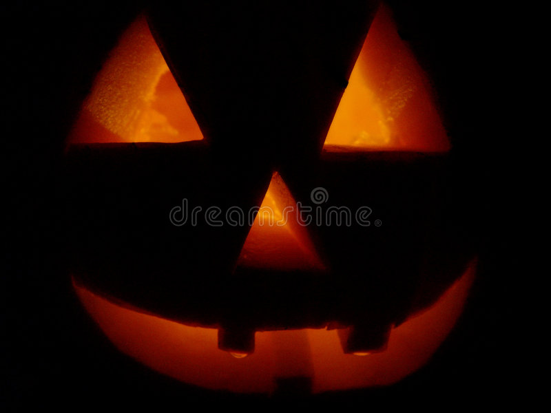 Pumpkin lite up royalty free stock photos