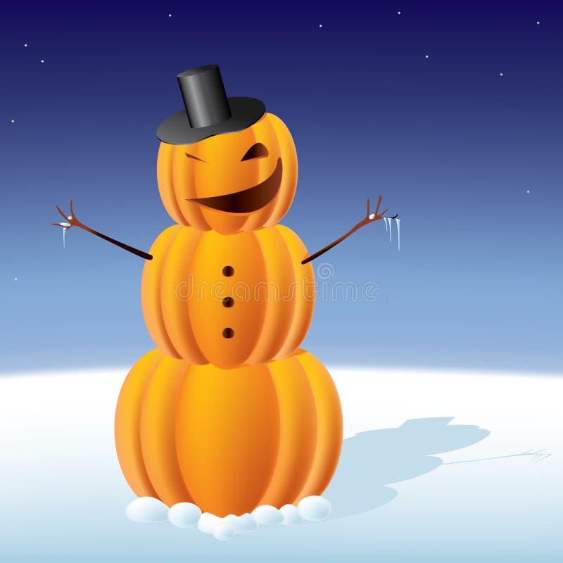Pumpkin man stock illustration