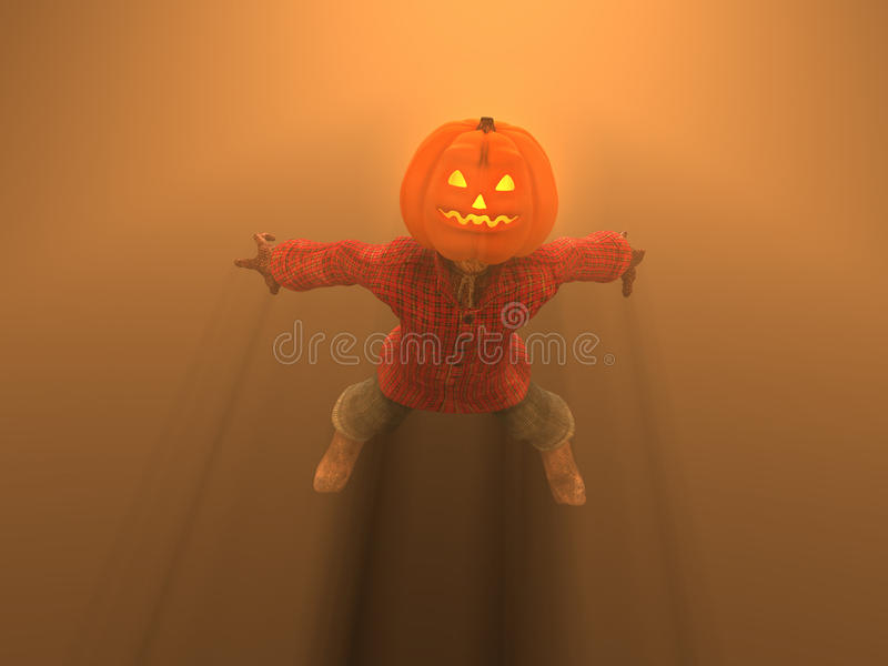 Download Pumpkin Man stock illustration. Illustration of cartoon - 16256169