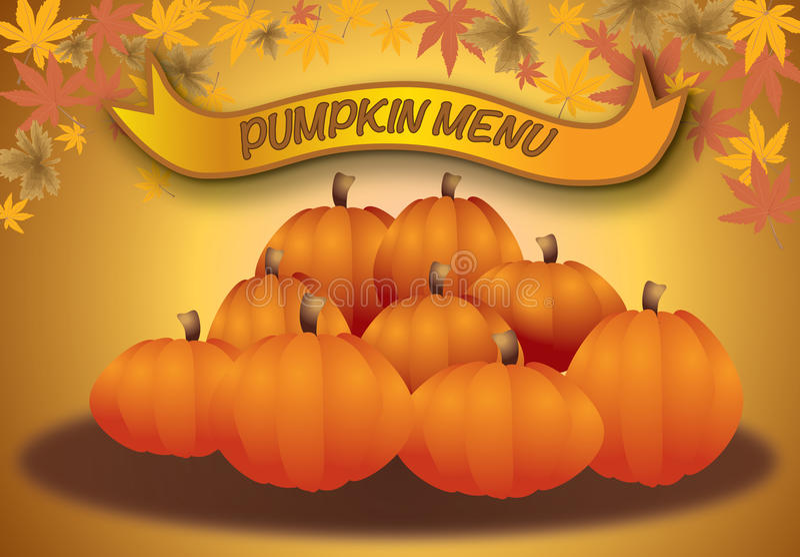 Pumpkin Menu, Autumn Halloween And Thanksgiving Me Stock Photos