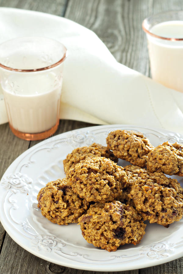 Download Pumpkin oat cookies stock photo. Image of food, nuts - 35254392