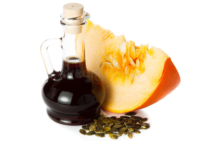 Pumpkin oil royalty free stock images