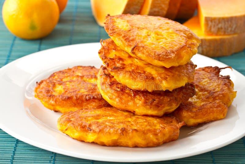 Pumpkin pancakes royalty free stock images