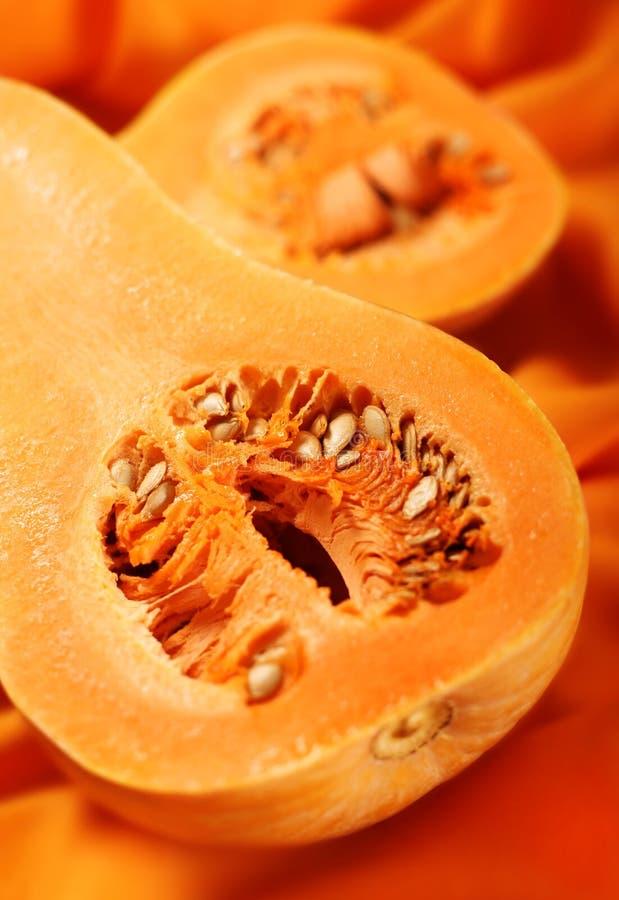 Pumpkin Part On Orange Royalty Free Stock Photography