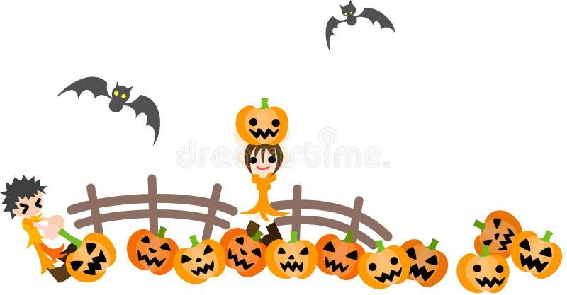 Download Pumpkin patch stock vector. Image of jack, deformation - 26542540