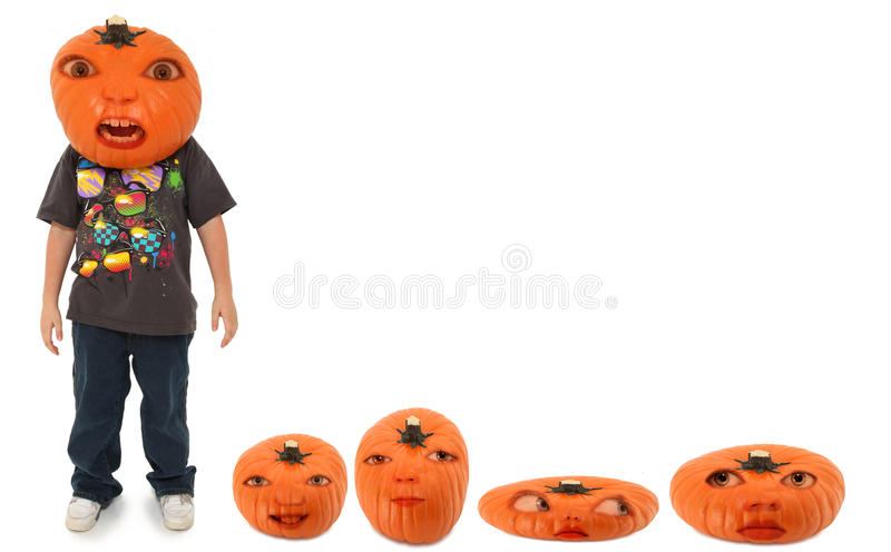 Pumpkin Patch Family royalty free stock photo