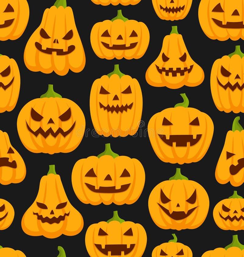 Pumpkin pattern royalty free illustration