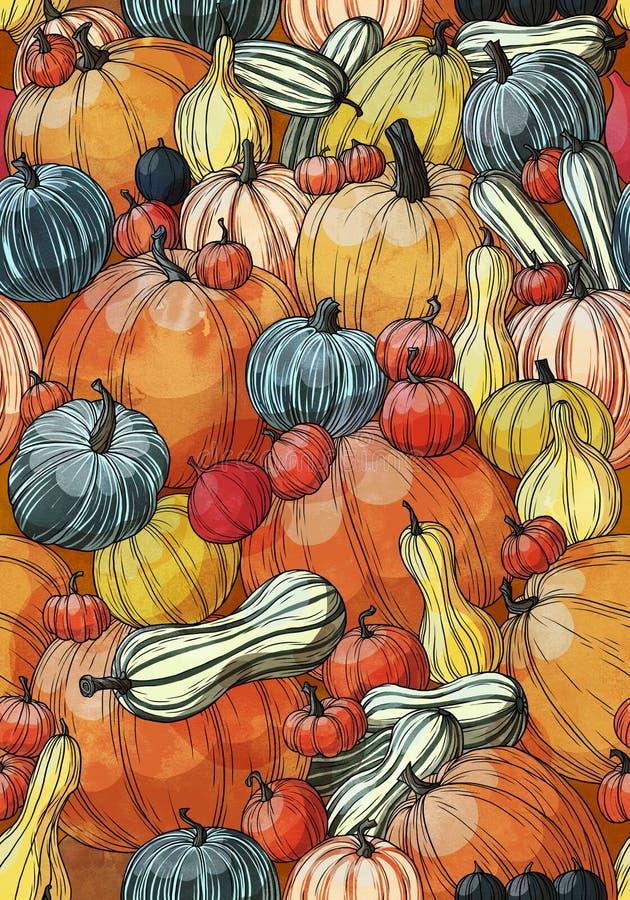 Pumpkin pattern royalty free stock photos