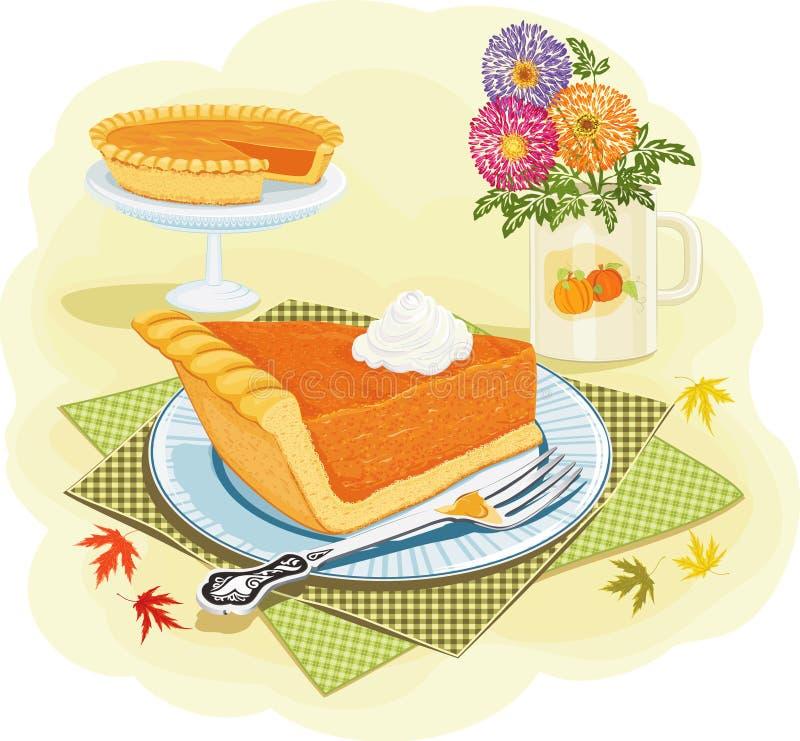 Download Pumpkin pie stock vector. Image of home, culinary, delicious - 27431450