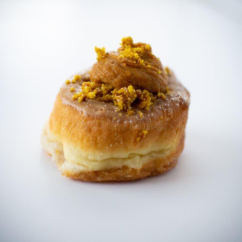 Pumpkin Pie Donut royalty-vrije stock afbeelding