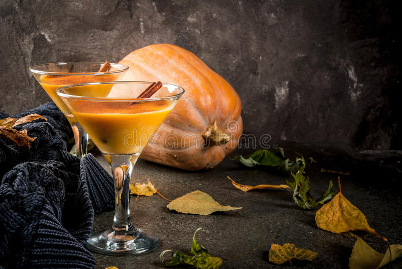 Pumpkin pie margarita stock photography