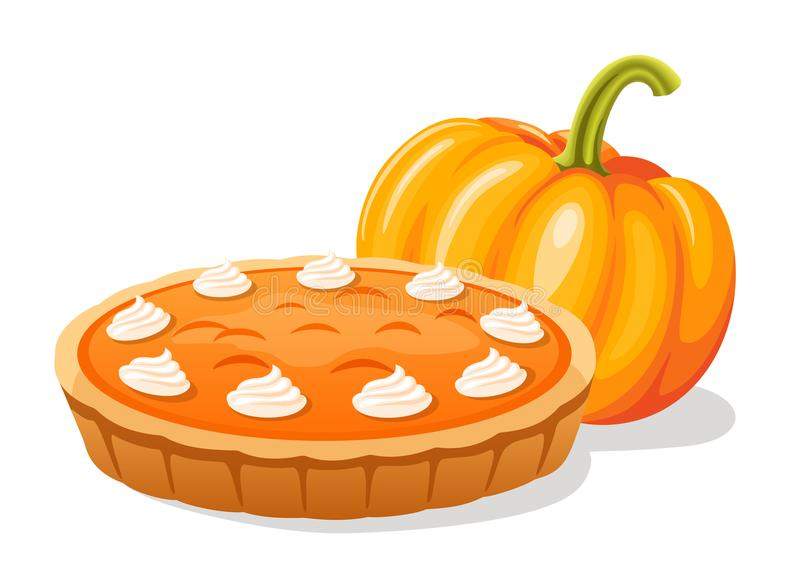 Pumpkin pie stock illustration
