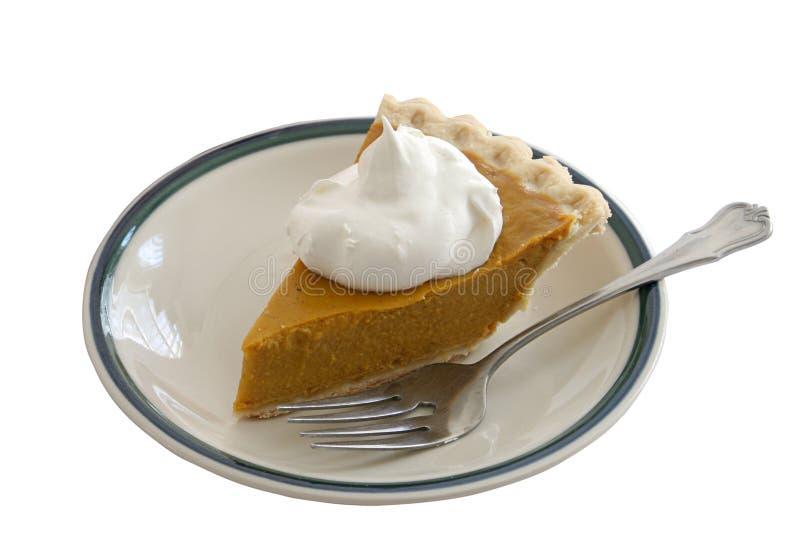 Pumpkin Pie Slice Isolated royalty free stock photos