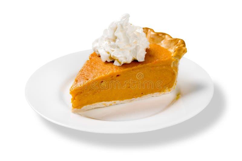 Pumpkin Pie Slice Isolated stock photo